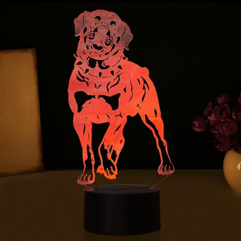 Rottweiler Dog 3D Led Lamp