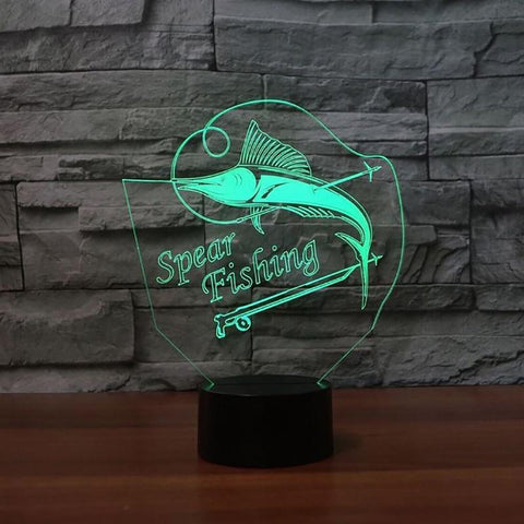 Image of New Day Stock 3D Led Lamp Acrylic Spear Fishing 3D Led Lamp