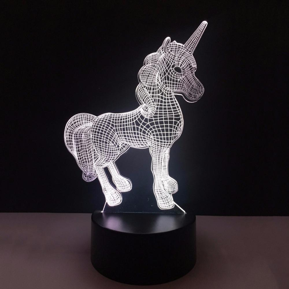New Day Stock 3D Led Lamp Animal Kawaii Unicorn 3D Led Lamp
