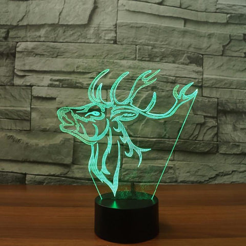 Image of New Day Stock 3D Led Lamp Atmosphere Deer Elk 3D Led Lamp