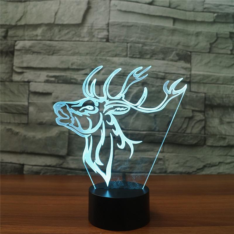 Atmosphere Deer Elk 3D Led Lamp