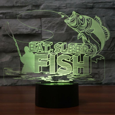 Image of New Day Stock 3D Led Lamp Big Fishs To Catch 3D Led Lamp
