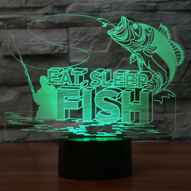 New Day Stock 3D Led Lamp Big Fishs To Catch 3D Led Lamp