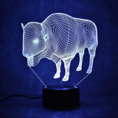 Image of New Day Stock 3D Led Lamp Buffalo 3D Led Lamp
