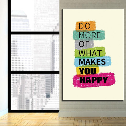 Image of New Day Stock Canvas Paintings Do More Of What Makes You Happy
