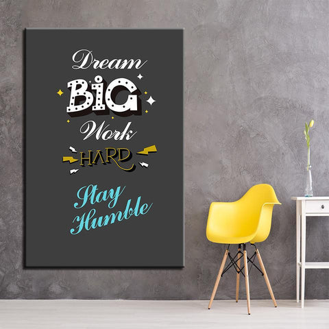 Image of New Day Stock Canvas Paintings Dream Big Work Hard Stay Humble