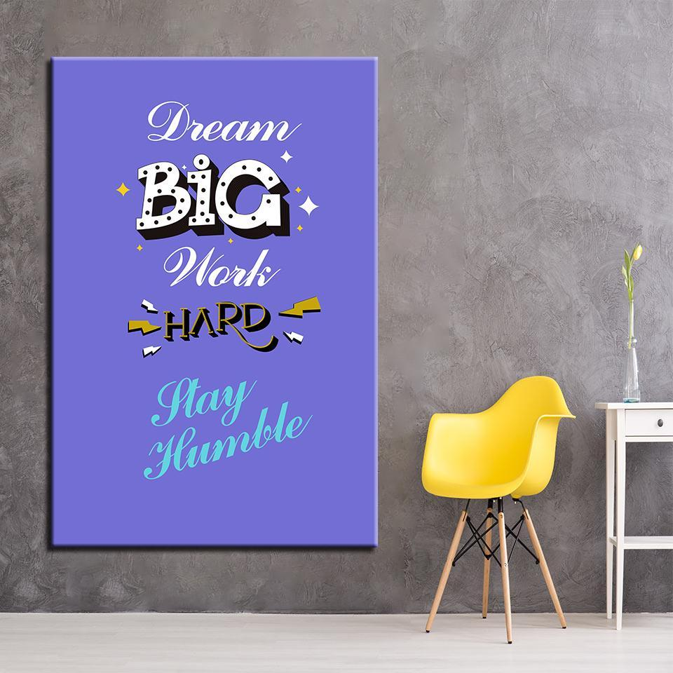 New Day Stock Canvas Paintings Dream Big Work Hard Stay Humble
