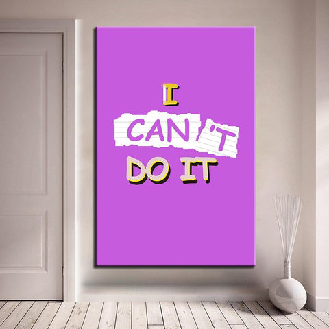 New Day Stock Canvas Paintings I Can Do It 2
