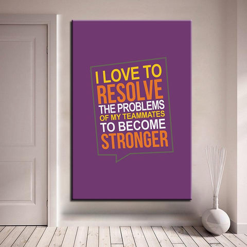 Image of I Love To Resolve The Problems Of My Teammates To Become Stronger - newdaystock