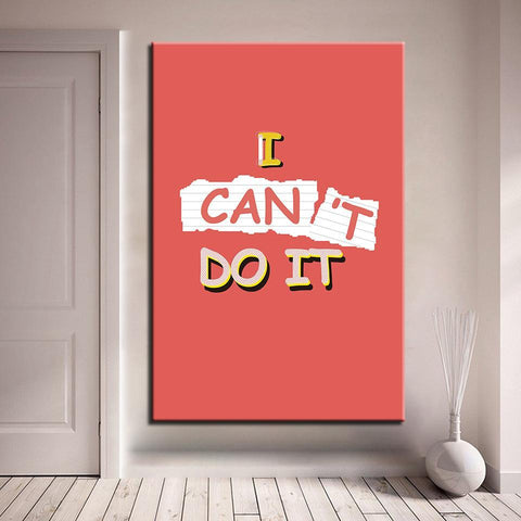 Image of New Day Stock Canvas Paintings Medium / Red / No Frame I Can Do It 2