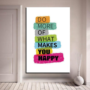 New Day Stock Canvas Paintings Medium / White / No Frame Do More Of What Makes You Happy