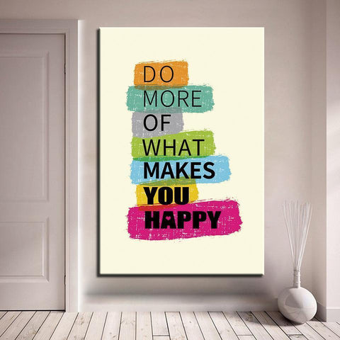 Image of New Day Stock Canvas Paintings Medium / Yellow / No Frame Do More Of What Makes You Happy