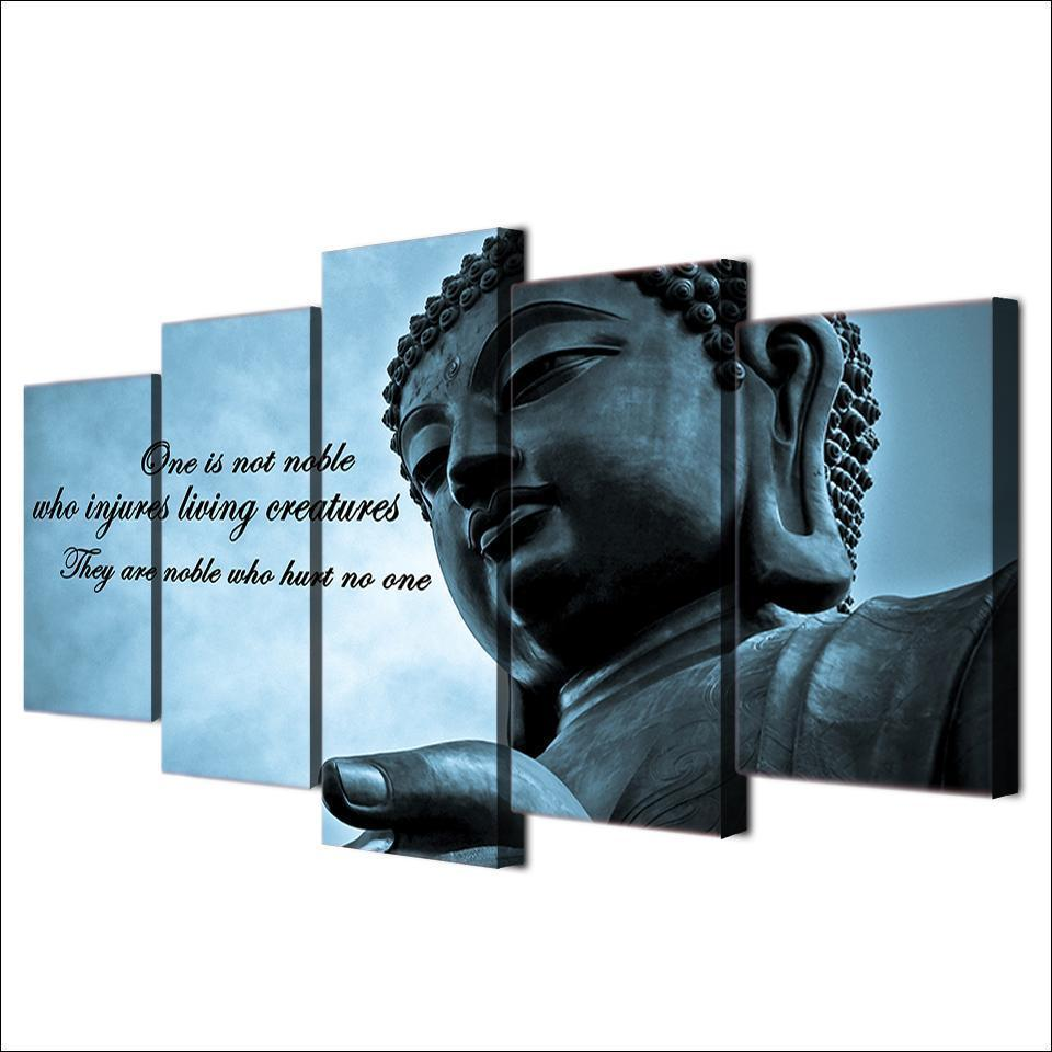 New Day Stock Store Canvas Paintings Buddha Insight 5 Piece Canvas Set