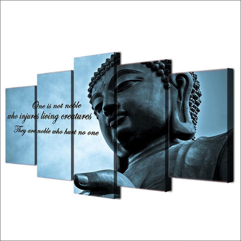 Image of New Day Stock Store Canvas Paintings Buddha Insight 5 Piece Canvas Set