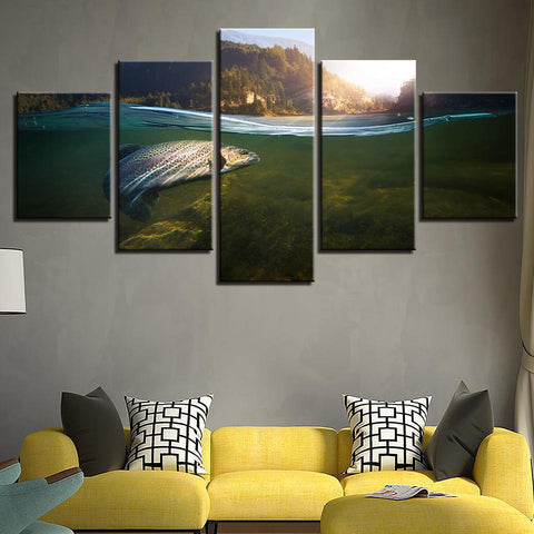 Image of New Day Stock Store Canvas Paintings Catch Of The Day 5 Piece Canvas Set