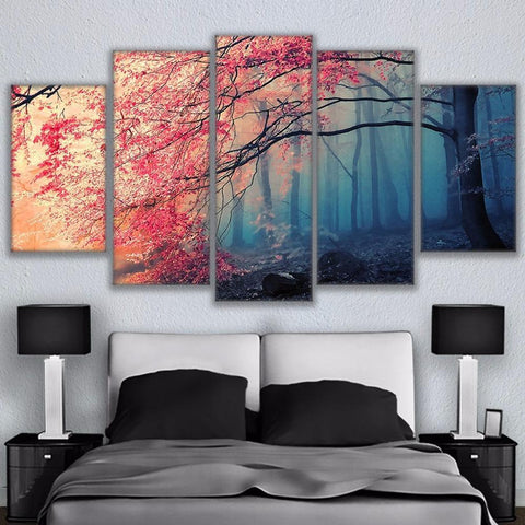 Image of New Day Stock Store Canvas Paintings Cherry Blossoms 5 Piece Canvas Set