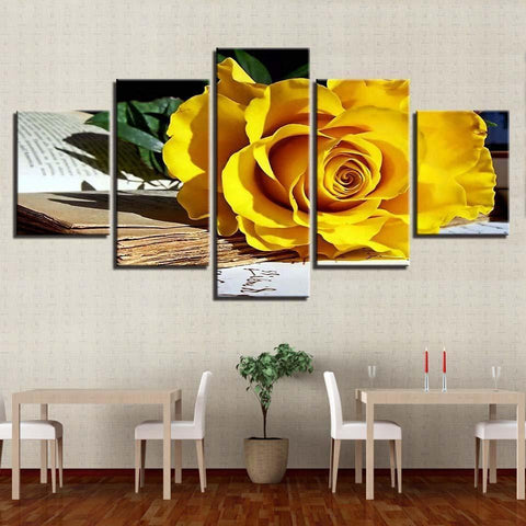 Image of New Day Stock Store Canvas Paintings Flower Studies 5 Piece Canvas Set