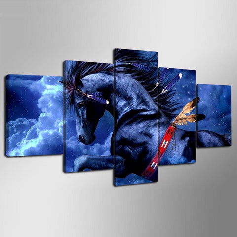 Image of New Day Stock Store Canvas Paintings Flying Horse 5 Piece Canvas Set