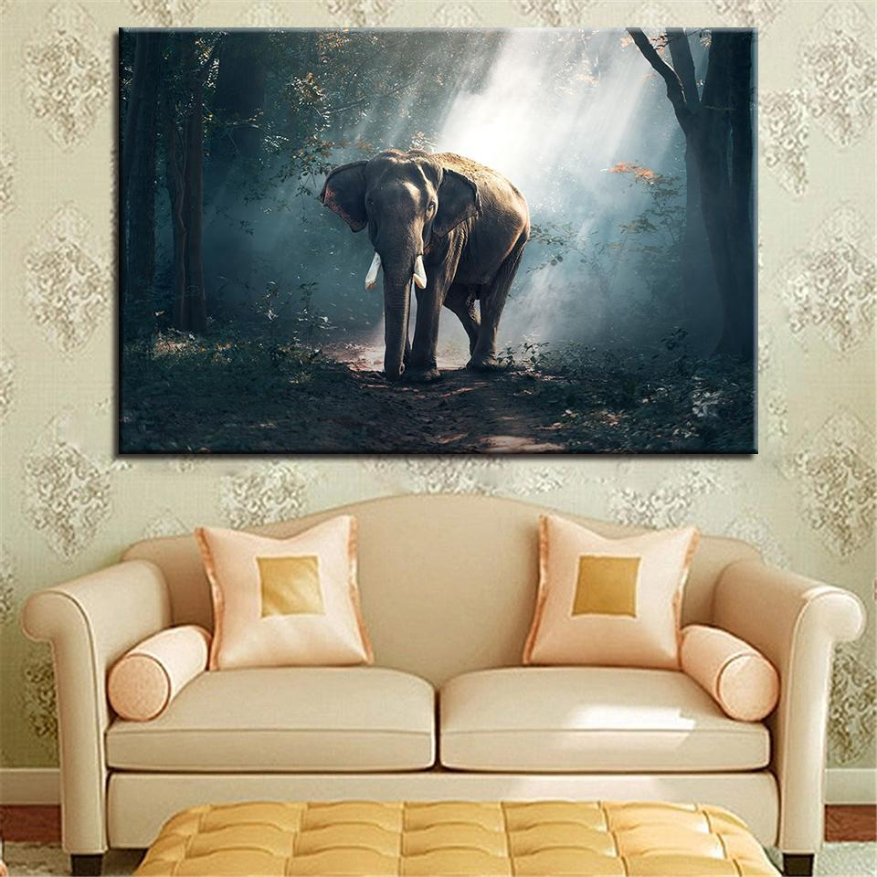 New Day Stock Store Canvas Paintings Medium / 1 Piece / No Frame African Forest Elephant Multi Piece Canvas Set