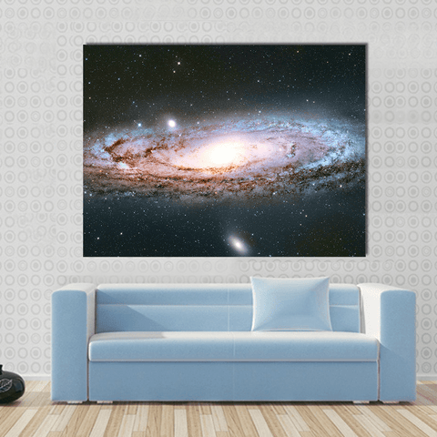 Image of New Day Stock Store Canvas Paintings Medium / 1 Piece / No Frame Andromeda Galaxy Multi Panel Canvas Set