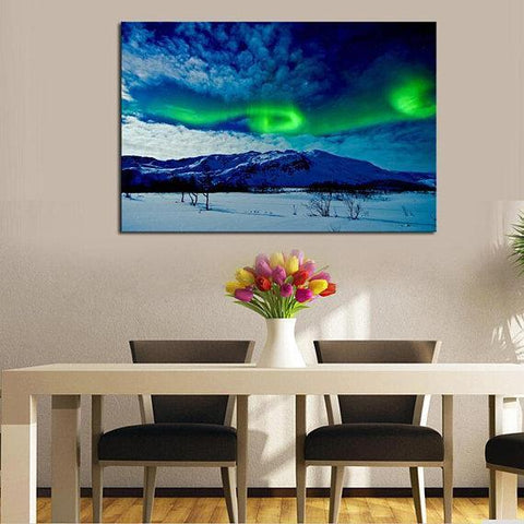 Image of New Day Stock Store Canvas Paintings Medium / 1 Piece / No Frame Aurora Borealis Balls Multi Piece Canvas Set