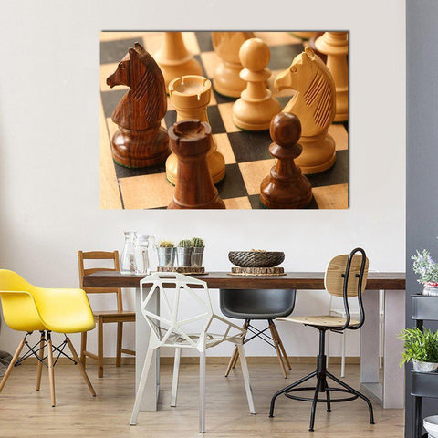 New Day Stock Store Canvas Paintings Medium / 1 Piece / No Frame Beautiful Chess Game Multi Piece Canvas Set