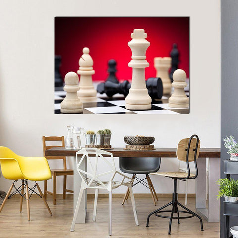 Image of New Day Stock Store Canvas Paintings Medium / 1 Piece / No Frame Beautiful Chess Pieces Multi Panel Canvas Set
