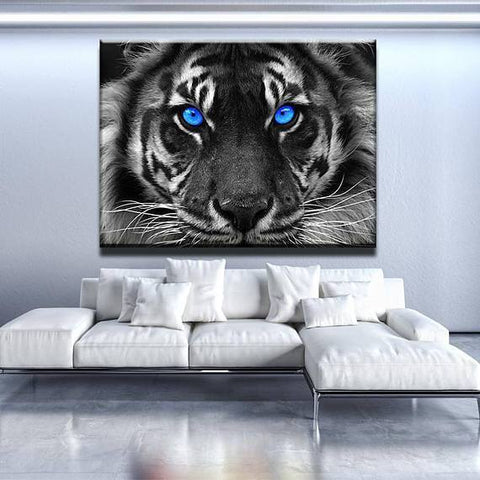 New Day Stock Store Canvas Paintings Medium / 1 Piece / No Frame Blue Eyed Tiger Multi Panel Canvas Set