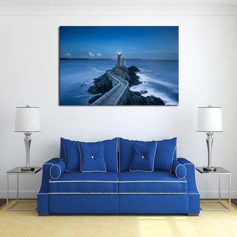 New Day Stock Store Canvas Paintings Medium / 1 Piece / No Frame Blue Sea Lighthouse Multi Panel Canvas Set