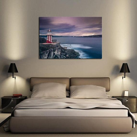New Day Stock Store Canvas Paintings Medium / 1 Piece / No Frame Candy Stripe Lighthouse Multi Panel Canvas Set