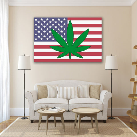 Image of New Day Stock Store Canvas Paintings Medium / 1 Piece / No Frame Cannabis Murica Multi Panel Canvas Set