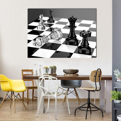 New Day Stock Store Canvas Paintings Medium / 1 Piece / No Frame Chess Board Multi Piece Canvas Set