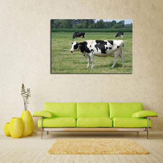 New Day Stock Store Canvas Paintings Medium / 1 Piece / No Frame Dairy Cow Farmer Multi Piece Canvas Set