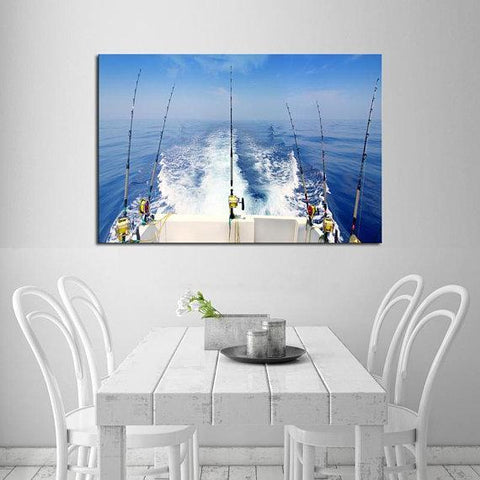 New Day Stock Store Canvas Paintings Medium / 1 Piece / No Frame Deep Sea Fishing Multi Piece Canvas Set