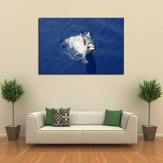 New Day Stock Store Canvas Paintings Medium / 1 Piece / No Frame Deep Sea Tuna Fishing Multi Panel Canvas Set