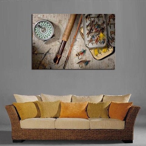 Image of New Day Stock Store Canvas Paintings Medium / 1 Piece / No Frame Fly Fishing Multi Panel Canvas Set