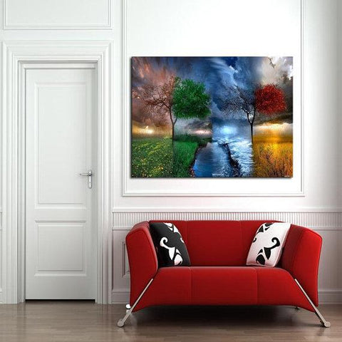 New Day Stock Store Canvas Paintings Medium / 1 Piece / No Frame Four Seasons Multi Piece Canvas Set