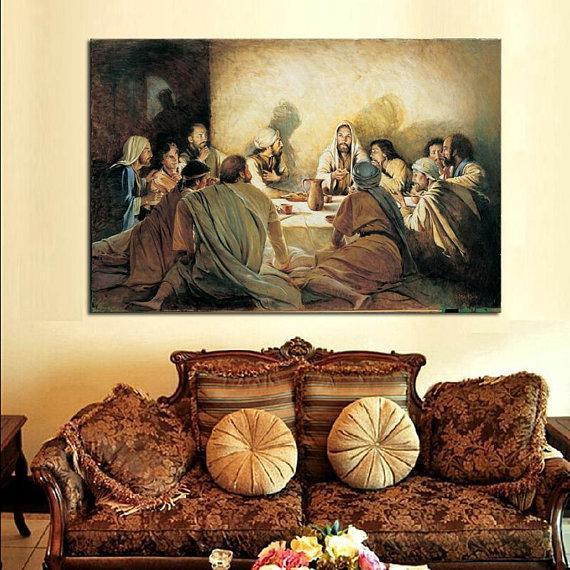New Day Stock Store Canvas Paintings Medium / 1 Piece / No Frame Last Supper Multi Piece Canvas Set