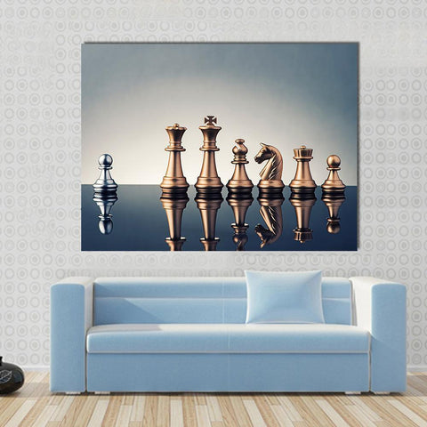 New Day Stock Store Canvas Paintings Medium / 1 Piece / No Frame Leadership Concept Of Chess Multi Piece Canvas Set