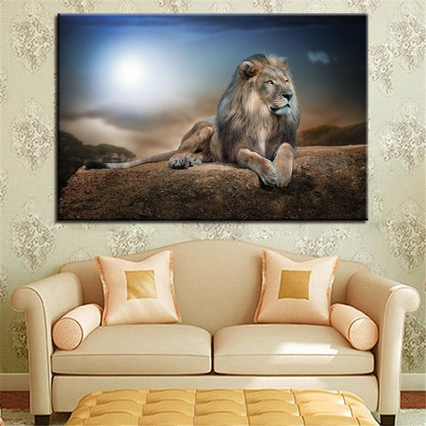 Image of New Day Stock Store Canvas Paintings Medium / 1 Piece / No Frame Lion King Multi Piece Canvas Set