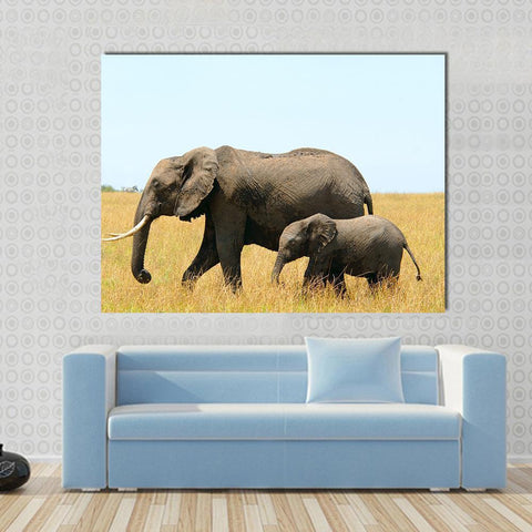 New Day Stock Store Canvas Paintings Medium / 1 Piece / No Frame Walking African Elephants Multi Piece Canvas Set