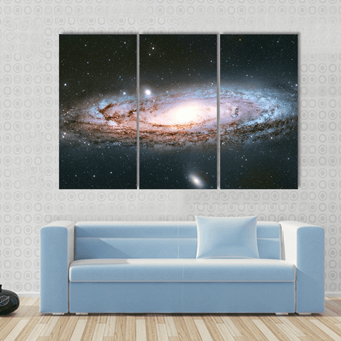 Image of New Day Stock Store Canvas Paintings Medium / 3 Pieces / No Frame Andromeda Galaxy Multi Panel Canvas Set