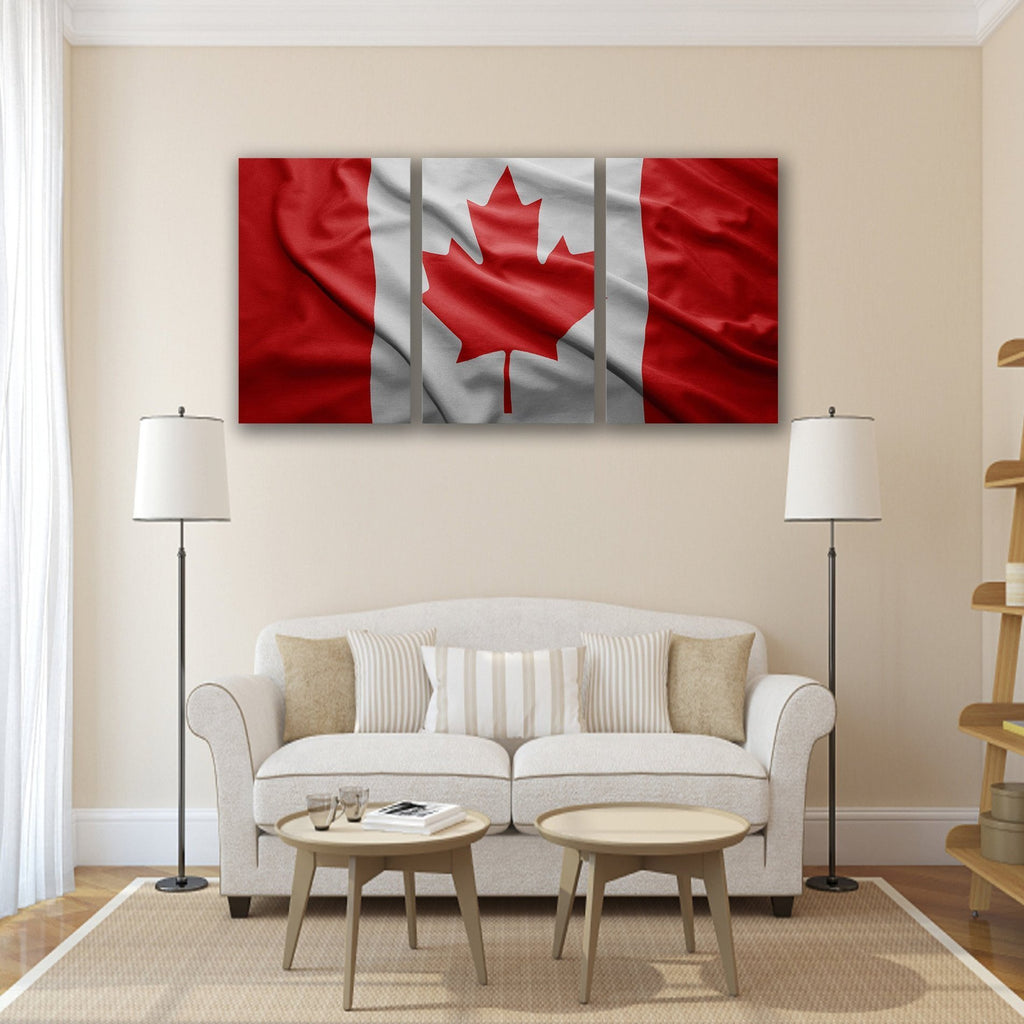 New Day Stock Store Canvas Paintings Medium / 3 Pieces / No Frame Canadian Flag Multi Panel Canvas Set