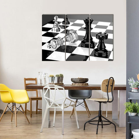 New Day Stock Store Canvas Paintings Medium / 3 Pieces / No Frame Chess Board Multi Piece Canvas Set
