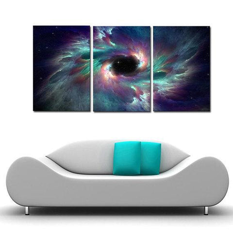 Image of New Day Stock Store Canvas Paintings Medium / 3 Pieces / No Frame Creation Galaxy Multi Piece Canvas Set