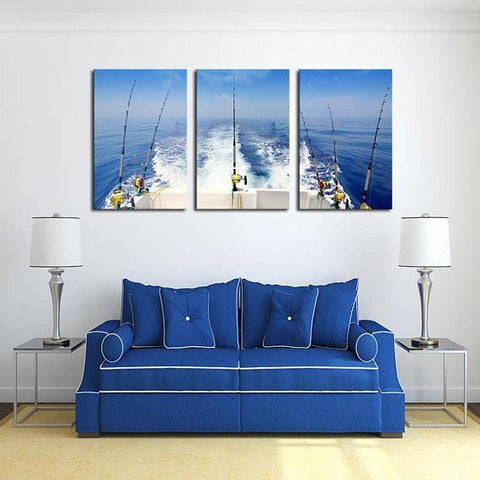 New Day Stock Store Canvas Paintings Medium / 3 Pieces / No Frame Deep Sea Fishing Multi Piece Canvas Set