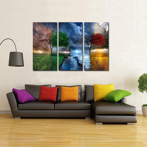 New Day Stock Store Canvas Paintings Medium / 3 Pieces / No Frame Four Seasons Multi Piece Canvas Set