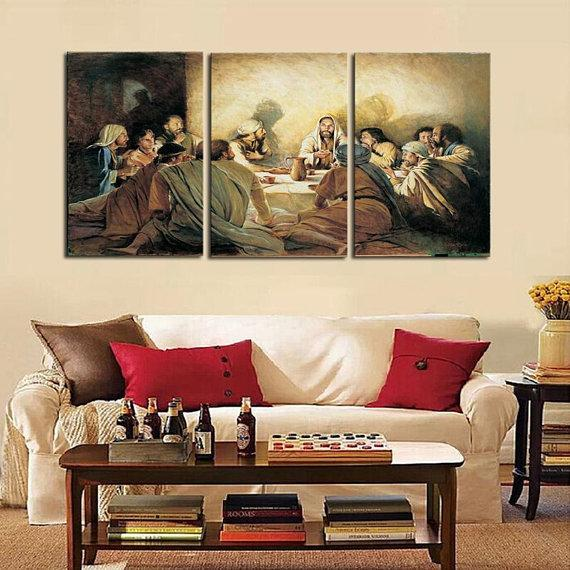 New Day Stock Store Canvas Paintings Medium / 3 Pieces / No Frame Last Supper Multi Piece Canvas Set