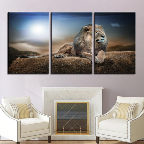 Image of New Day Stock Store Canvas Paintings Medium / 3 Pieces / No Frame Lion King Multi Piece Canvas Set