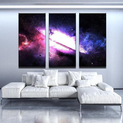 New Day Stock Store Canvas Paintings Medium / 3 Pieces / No Frame Majestic Nebula Galaxy Multi Panel Canvas Set